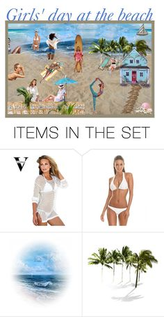 """""""Girls' day at the beach"""" by leaff88 ❤ liked on Polyvore featuring art"""