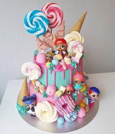 LOL surprise cake + 30 Lol doll cake models – Birthday … – Pastry World Doll Birthday Cake, Funny Birthday Cakes, 6th Birthday Parties, Birthday Ideas, Doll Cake Designs, Bolo Super Mario, Lol Doll Cake, Surprise Cake, Surprise Birthday