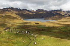 # Équateur :Ozogoche dans le parc national Sangay avec ses lacs aux eaux turquoises