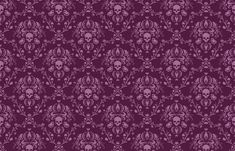 Orchid and Plum Skull Damask fabric by elizabeth on Spoonflower - custom fabric