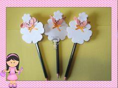 lápis com ponteira de ovelha confecciono vários bichinhos