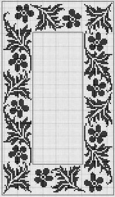 Ideas for embroidery designs free lace flowers crochet patterns Cross Stitch Borders, Cross Stitch Flowers, Cross Stitch Designs, Cross Stitching, Cross Stitch Embroidery, Cross Stitch Patterns, Lace Patterns, Crochet Tablecloth, Tunisian Crochet