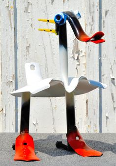 Recycled Metal Duck Sculpture