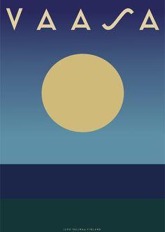 VAASA Vintage Travel Poster  #vintagetravelposters #vasa #vaasa #wasa #kustaavaasa #gustavvasa #finland #österbotten #pohjanmaa #raippaluoto #replot #replotbron #vaskiluoto #korsholm #mustasaari #vanhavaasa Gustav Vasa #suomi #retro #art #graphic #illustration #pohjalainen #ilkka