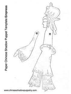 Chinese Shadow Puppetry   Paper Puppet Templates