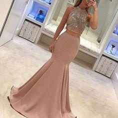 Shiny, Sparkling, Slim 😱😍😍😍  itemcode: SP0227.   Extra 8% Off for Christmas Sale  #prom2017 #promdress2017 #prom2k17 #twopiecepromdress #twopieces #pinkpromdress
