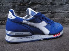 The latest reissue from Italian footwear label Diadora is the Seb Impact. The kicks originally created for British middle distance runner Seb Coe were know Sneakers Looks, Best Sneakers, Air Max Sneakers, Shoes Sneakers, Diadora Sneakers, Zapatillas Nike Air, Bright Shoes, Sneaker Games, Fashion Shoes