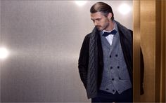 Massimo Dutti November Lookbook for Men. Fall Winter 2014 Collection.
