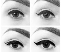 Everyone always asks how I do my cat eyes, and while I don't do them like this exactly, it's a quick and easy way to do it accurately.