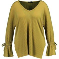 Boohoo Plus Iris Knitted Rib Tie Detail Jumper | Boohoo ($18) ❤ liked on Polyvore featuring tops, sweaters, ribbed sweater, ribbed top, tie sweater, jumpers sweaters and boohoo jumpers