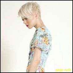 As pixie hairstyles are in trend so almost everyone wants it but they also want a unique look. Here are few different pixie hairstyles which you can try: Funky Hairstyles, Short Hairstyles For Women, Pixie Cut Blond, Pixie Cuts, Edgy Pixie, Short Hair Cuts, Short Hair Styles, Very Short Haircuts, Sassy Hair