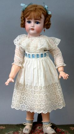 "Kammer & Reinhardt, Simon & Halbig —  22  1/2""  Original  Bisque  Doll  on  Teen-Aged Body (604x1100)"