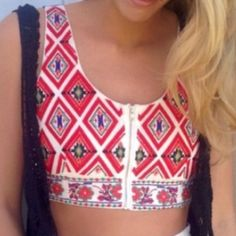 LF Red Tribal Crop Top NWT! Red tribal crop top from LF with a zipper front! Tag says XS but it runs a little big so it would fit a size small better. Feel free to ask any questions! Can negotiate price a little. LF Tops Crop Tops