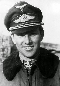 """Major (Wehrmacht) Generalleutnant (Bundeswehr) Gerhard """"Gerd"""" Barkhorn (20 March 1919 – 8 January 1983) second most successful fighter ace of all time after Erich Hartmann. 301 victories from 1,104 missions. Knight's Cross on 23 August 1942 as Oberleutnant and Staffelkapitän of the 4./Jagdgeschwader 52; 175th Oak Leaves on 11 January 1943 as Oberleutnant and Staffelkapitän of the 4./Jagdgeschwader 52; 52nd Swords on 2 March 1944 as Hauptmann and Gruppenkommandeur of the II./Jagdgeschwader 52"""