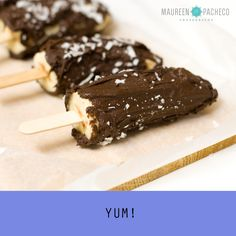 Chocolate-Coconut covered Banana Popsicles
