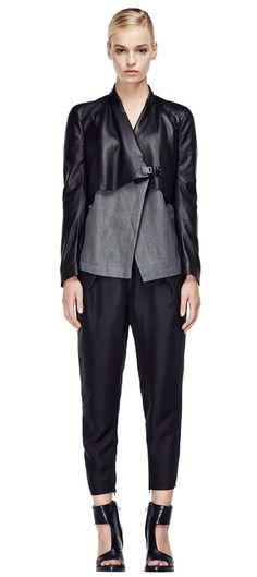 V S P Spring/Summer 2015 #vsp #leather #design #spring #summer #fashion #jacket Shearling Coat, Ss 15, Spring Summer 2015, Sophisticated Style, Leather Design, Pants, Jackets, Dresses, Women