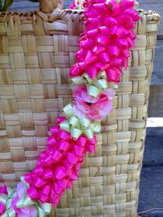 Hawaiian Pink Pikake Ribbon Lei 1 by BusyBeeStudio2014 on Etsy