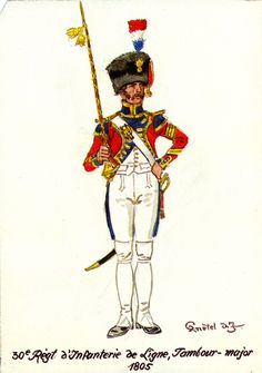 French; 30th Line Infantry, Drum Major 1805 by H.Knotel