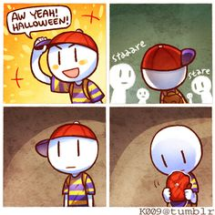 Im probably going Ness for this Halloween!!! :3
