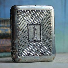vintage metal cigarette case home decor accessories by CoolVintage