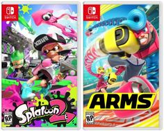 We can't get enough of ARMS and Splatoon What Nintendo Switch game are you loving right now? Video Game Party, Party Games, Video Games, Bubble Soccer, Laser Tag Party, Video Game Reviews, Nintendo Switch Games, Mobile Video, Corporate Events