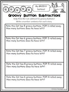 Pete the Cat subtraction