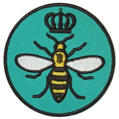 Queen Bee Iron On Patch Embroidery Sewing DIY Customise Denim