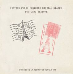 Vintage Paris postmark brushes for Photoshop