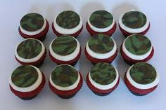 camo cupcake toppers - Google Search