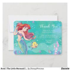 Disney Princess Gifts, Disney Princess Birthday, Disney Little Mermaids, Ariel The Little Mermaid, Mermaid Kids, Birthday Supplies, Custom Thank You Cards, Birthday Party Decorations, Birthday Invitations