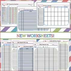 The Good Wife: New Budget Worksheets! Including Bill Tracker and Checklist, Online Bill Pay Checklist, Daily Expense Log, Donation Log, Safe Deposit Box Log, Checkbook Registers and Finance Calendar #printables #homemanagementbinder #homemanagement #organization