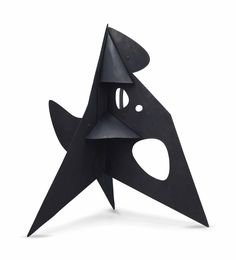 Alexander Calder - Conical Gussets , sheet metal and paint x x cm.) executed in 1956 Modern Sculpture, Abstract Sculpture, Sculpture Art, Metal Sculptures, Alexander Calder, Hard Edge Painting, Classic Artwork, Modern Love, Modern Artists