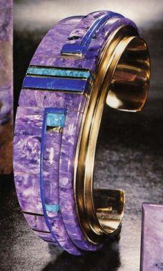 Charoite bracelet - love this Russian gemstone