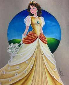 🌼 Here is Daisy! 🌼 I'm wicked happy with this gown ❤ All I really wanted to show was balance, and I felt like with that floral layer on her skirt, it really did just that. As a kid I was always. Disney Princess Art, Disney Fan Art, Disney Style, Disney Love, Arte Disney, Disney Pixar, Disney Characters, Disney Drawings, Art Drawings