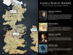 Game of Thrones: The Quest for the Silicon Throne Our Game of Thrones Search Engine Infographic #GameofThrones #Google #Bing #Yahoo #AOL #SEO #SearchEngineOptimization #ad
