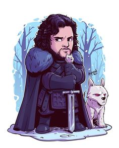 A Game of Thrones chibi print set is coming at some point. First up, Jon Snow…