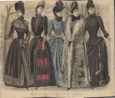 Late Victorian Era Clothing: Late Victorian Era Fashion Plate - December 1889 Peterson's Magazine