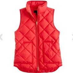 Red J.crew vest. Size:xs Red j.crew vest. Size:xs. Worn two times. Love this but already have a red vest. In great condition!! J. Crew Jackets & Coats Vests