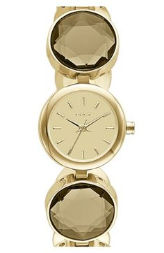 DKNY Round Crystal Bracelet Watch, 20mm | Nordstrom