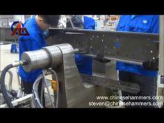 Hydraulique rivetage machine, camion machine à rivetage, Rivet Réglage machine - YouTube