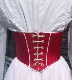 pop tab corset | Jolly Holiday Red Satin Corset photo MaryPoppinsJollyHoliday2011009-1 ...