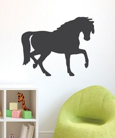 Take a look at this Chalkboard Horse Wall Decal by Wallquotes.com by Belvedere Designs on #zulily today! $22 !!