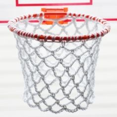 Throw out those flimsy indoor basketball hoop nets and replace them with a better more permanent solution: a crochet net! FREE pattern