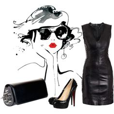 """""""Leather"""" by tes-coll on Polyvore"""