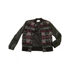 Pre-owned American Retro leather teddy jacket ($175) ❤ liked on Polyvore featuring outerwear, jackets, letterman jackets, teddy jacket, college jacket, black letterman jacket and leather jacket
