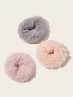 Shop Fluffy Scrunchies at ROMWE, discover more fashion styles online. Casual Hairstyles, Hat Hairstyles, Diy Hair Scrunchies, Accesorios Casual, Cute Jewelry, Hair Ties, Diy Clothes, Girly Things, Makeup Collection