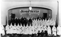 For Christians who feel that they have no part in undoing racism, I would encourage you to learn about your own rich history of helping create and perpetuate it.  This photo was taken in Oregon in the 1920s.  The church can be a tool of liberation or oppression.  Your choice.  #UndoingRacism #KnowYourHistory #BlackLivesMatter