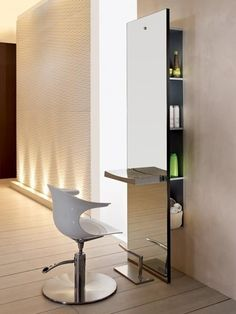 Server salon-ideas #home#hair#salon ideas : this is so modern. I'm not sure how comfortable  that chair would be though