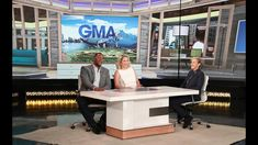 """To prepare for the new extra hour of """"Good Morning America,"""" Ellen handed over the reins to """"GMA Day"""" co-hosts Michael Strahan and Sara Haines, and let them . Sara Haines, Michael Strahan, The Ellen Show, Good Morning America, Let It Be"""