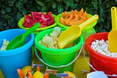 Serving Idea: Pails and shovels